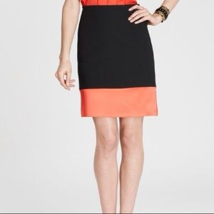 Ann Taylor color-block skirt 2p